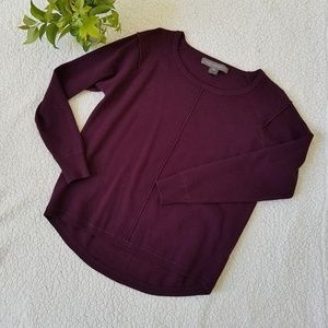 French Connection Puple Hi Low Sweater